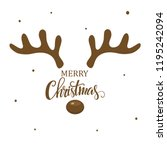 Antler Christmas Card Template...