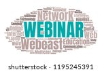 webinar or web conference word... | Shutterstock . vector #1195245391