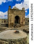 ateshgah fire temple. temple...   Shutterstock . vector #1195250494