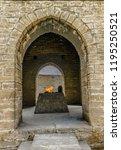 ateshgah fire temple. temple...   Shutterstock . vector #1195250521