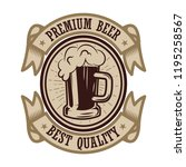 vintage beer label. design... | Shutterstock .eps vector #1195258567