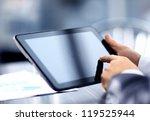 businessman holding digital... | Shutterstock . vector #119525944