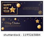 merry christmas and happy new... | Shutterstock .eps vector #1195265884
