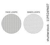 vector illustration of knitted... | Shutterstock .eps vector #1195269607