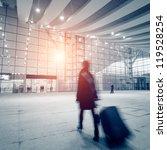 passengers motion blur in... | Shutterstock . vector #119528254