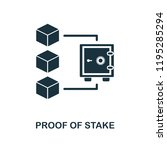 proof of stake icon. monochrome ...