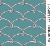 nautical gray rope woven ... | Shutterstock .eps vector #1195289044