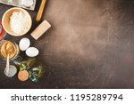 ingredients for cooking pirok... | Shutterstock . vector #1195289794