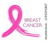banner with pink ribbon for... | Shutterstock .eps vector #1195291807