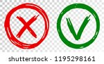 tick cross vector check marks...   Shutterstock .eps vector #1195298161