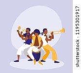 mambo band avatar character | Shutterstock .eps vector #1195301917