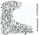 i love music back to school... | Shutterstock .eps vector #119530249