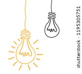 bulbs lights ideas icons | Shutterstock .eps vector #1195305751