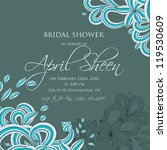 wedding card or invitation with ... | Shutterstock .eps vector #119530609