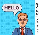 chatbot concept.businessman...   Shutterstock .eps vector #1195315447