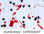 black and white spiders on a... | Shutterstock . vector #1195323247