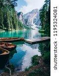 beautiful view of lago di... | Shutterstock . vector #1195324081