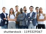 group of successful young... | Shutterstock . vector #1195329367