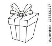 outline gift box surprise... | Shutterstock .eps vector #1195331317