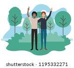 men in the landscape avatar...   Shutterstock .eps vector #1195332271