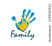 family icon in the form of... | Shutterstock .eps vector #1195332511