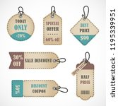 vector stickers  price tag ... | Shutterstock .eps vector #1195339951