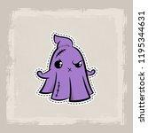 halloween stitch ghost  phantom ... | Shutterstock .eps vector #1195344631