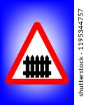 sign of traffic  attention... | Shutterstock .eps vector #1195344757