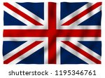waving flag of the great... | Shutterstock . vector #1195346761