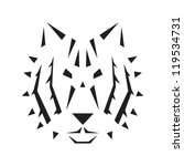 abstract minimal style tiger... | Shutterstock .eps vector #119534731