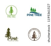 pines tree logo sample  vector... | Shutterstock .eps vector #1195361527