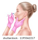 vector face plastic surgery ... | Shutterstock .eps vector #1195362217