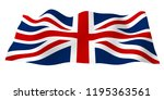waving flag of the great... | Shutterstock . vector #1195363561