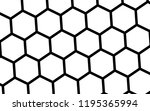 black honeycomb on a white... | Shutterstock . vector #1195365994