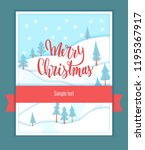 merry christmas vector greeting ... | Shutterstock .eps vector #1195367917