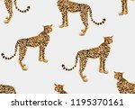 seamless vector tropical marine ... | Shutterstock .eps vector #1195370161