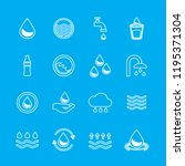 water icons set isolated on... | Shutterstock .eps vector #1195371304