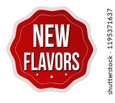 new flavors label or sticker on ...   Shutterstock .eps vector #1195371637