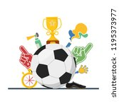 football concept attributes of... | Shutterstock .eps vector #1195373977