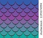 mermaid tail pattern. paper cut ... | Shutterstock .eps vector #1195374994