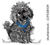 hand drawn scruffy puppy... | Shutterstock .eps vector #119538439