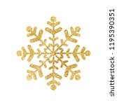 gold glitter texture snowflake... | Shutterstock .eps vector #1195390351