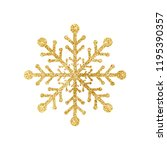 gold glitter texture snowflake... | Shutterstock .eps vector #1195390357
