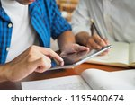 college students are studying... | Shutterstock . vector #1195400674