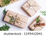 christmas presents  holiday... | Shutterstock . vector #1195412041