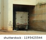 do not enter where the truck... | Shutterstock . vector #1195425544