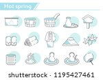 Hot Spring Icon Set    Simple...
