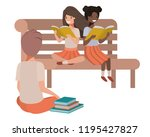 young ethnicity students... | Shutterstock .eps vector #1195427827