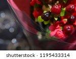 red fruits bouquet | Shutterstock . vector #1195433314