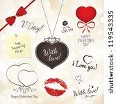 set of valentine's day design...   Shutterstock .eps vector #119543335